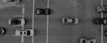 Birds eye view of a fleet of vehicles